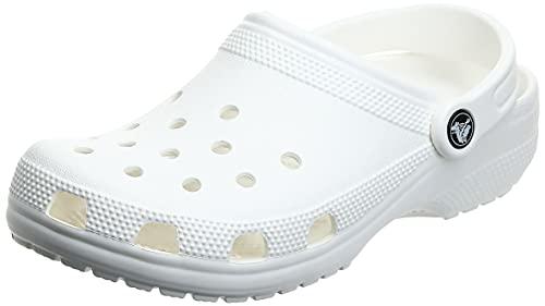 Crocs Classic Clog, Zuecos Unisex Adulto, Blanco (White 100), 37/38 EU