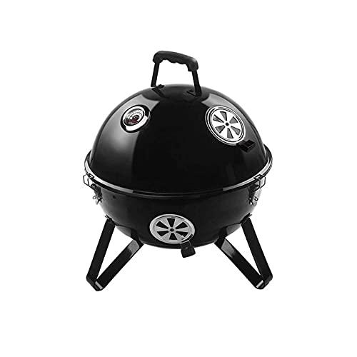 Z-Color Portátil de pequeño Parrilla de carbón Parrilla la Mini Mesa de Picnic cocción Partido de la Familia Fuma Acampar con Rejilla trípode -Negro