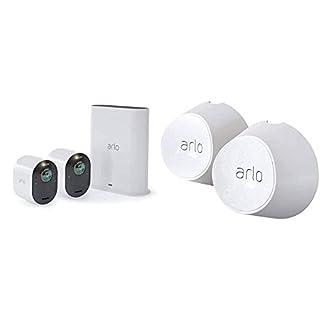Arlo Ultra VMS5240 Sistema di Videosorveglianza Wi-Fi con 2 Telecamere di Sicurezza 4K, Audio 2 Vie, Luce, Bluetooth & VMA5000-10000S Supporto magnetico da parete Ultra (B08H8Y6RLY) | Amazon price tracker / tracking, Amazon price history charts, Amazon price watches, Amazon price drop alerts