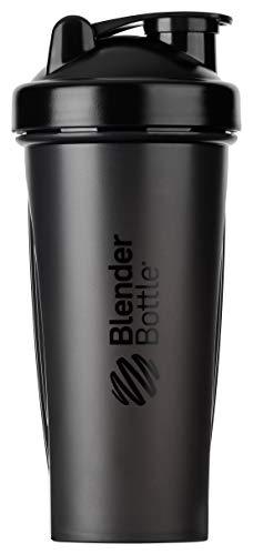 BlenderBottle Classic Shaker mit BlenderBall, optimal geeignet als Eiweiß Shaker, Protein Shaker, Wasserflasche, Trinkflasche, BPA frei, skaliert bis 600 ml, Fassungsvermögen 820 ml, schwarz