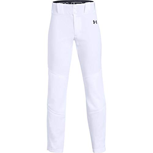 Under Armour Boys' Ace Relaxed Pants , White (100)/Black , Youth Small