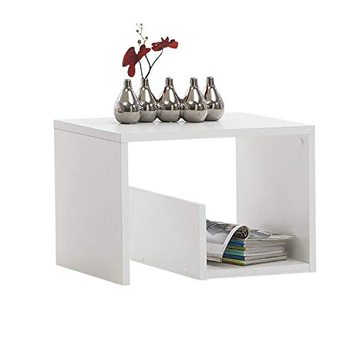 FMD Moebel SB-Design Mike Table d'appoint 59 x 38 x 36 cm Blanc