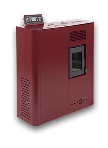 Estufa de pellets de Pasillo Micro Fuji-MSR 6Kw roja