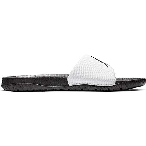 Nike Herren Jordan Break Slide Slipper, White/Black-Black, 49.5 EU