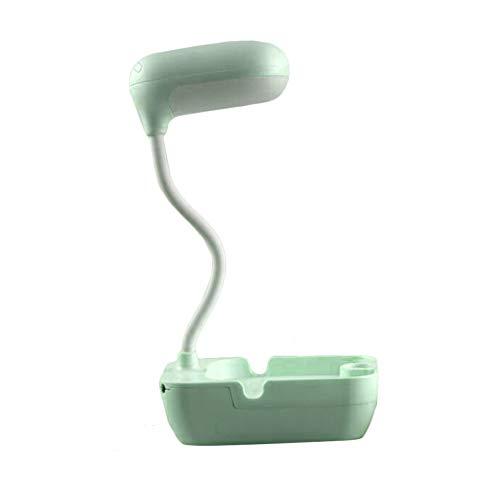 RIsxffp USB-Schreibtischlampe, zum Aufladen der Schreibtischlampe, leicht, LED-Schreibtischlampe, Aufbewahrungsbox für Telefon-Gabel C grün