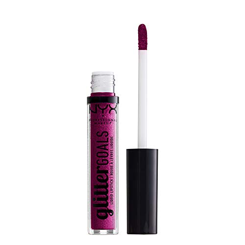 NYX PROFESSIONAL MAKEUP Glitter Goals Liquid Lipstick - X Infinity (Violet With Pink And Magenta Glitter)