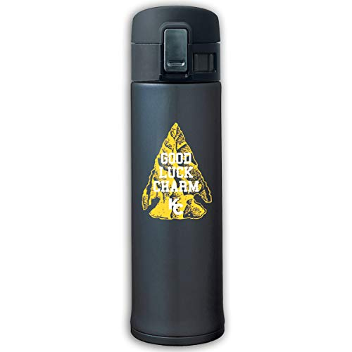 Top Wholesale Goede Luck Charm KC Travel Mok Roestvrij staal Thermal Mok Vacuum Flask Lekproof Koffiemok met BPA-vrij Easy Clean deksel Keeps Cold Or Hot