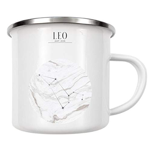 artboxONE Emaille Tasse LÖWE | Leo von Stephanie Wünsche - Emaille Becher Typografie