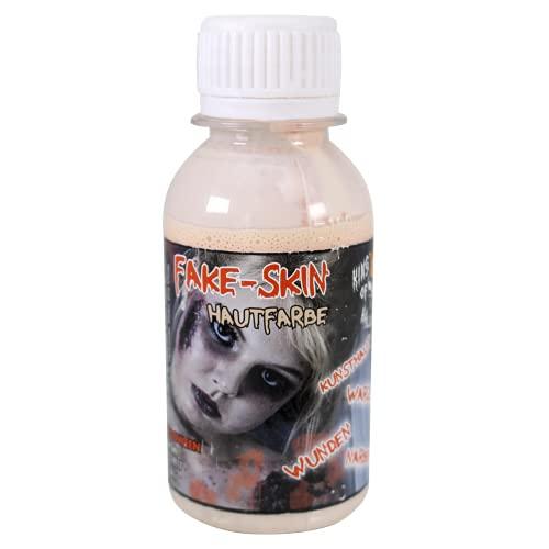 King of Halloween Leche de látex, Tonos de Piel, Piel Artificial, 100 ml, para Hacer heridas y Cicatrices-Zombie-Halloween-FX Maquillaje