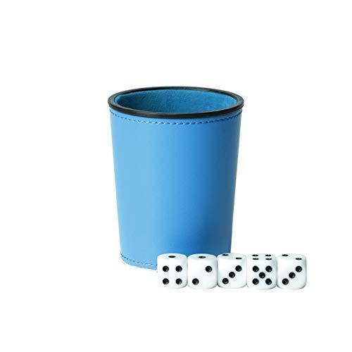 YUANLIN Dados Cuero PU Trompeta Franela Dados Copa Bar KTV Entertainment Dice Cup con Dados dcc Dados ( Color : Sky Blue )