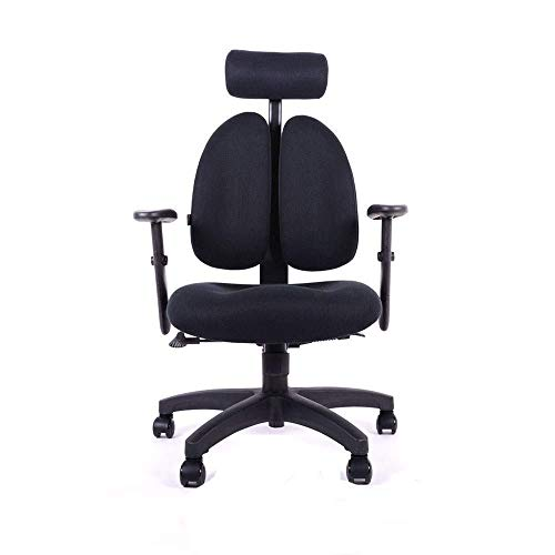 N/Z Daily Equipment Chairs Office High Back Desk with Adjustable Dual backrest Lumbar Support and Mute Wheel S (Color : D)
