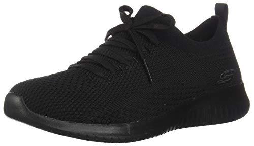 Skechers Damen-Sneaker, Schwarz/Schwarz, 8 US