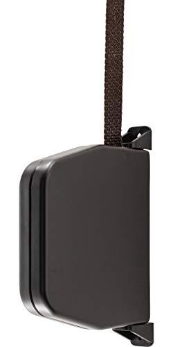 Schellenberg 50504 Gurtwickler Aufschraubwickler zur Aufputzmontage, System Mini, inkl. vormontiertem Rolladengurt 14 mm x 5 m Länge), Aufputz, 180° schwenkbar