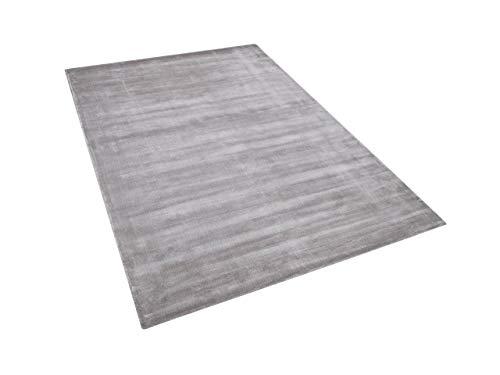 Moderner Teppich Hellgrau aus Viskose Kurzflor Rechteckig 140x200cm Gesi II