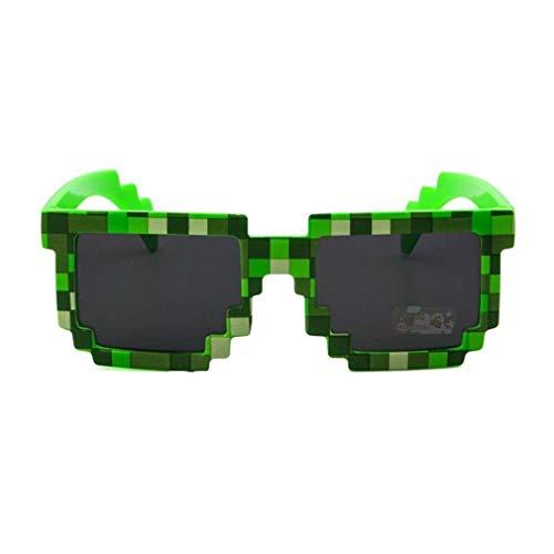 xingxing Gafas de sol divertidas para niños, diseño de mosaicos europeos y americanos (color: verde)