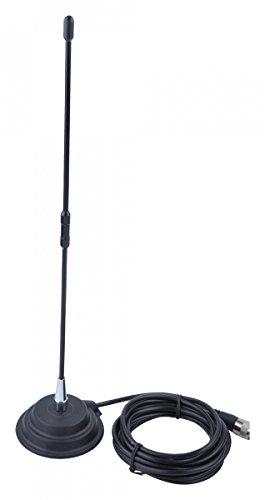Sunker Fourth ANT0443 - Antena magnética para emisora CB 50W 45cm Base magnética Inoxidable