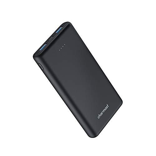 Charmast Batería Externa 10000mAh Cargador Portátil USB C Silm Powerbank con 3 Salida y 2 Entrda Compatible con Smartphones, Tablets y más
