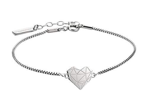 Liebeskind Berlin Damen Armband Herz Edelstahl Silber 20 cm (silber)