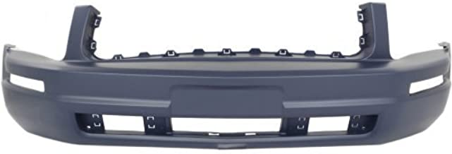 Front Bumper Cover Compatible with 2005-2009 Ford Mustang Primed Base Model with Pony Package Conv/Coupe