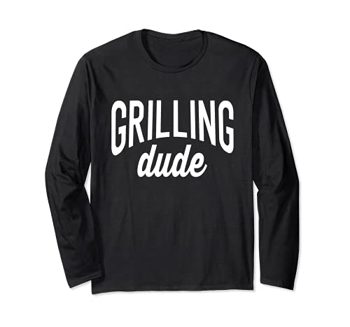 BBQ Grill Tee For Men Grilling Dude Langarmshirt