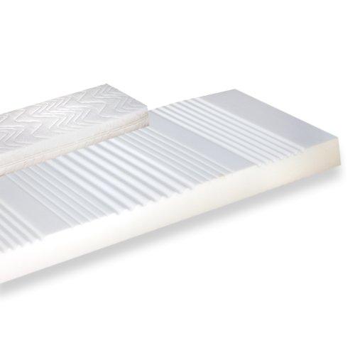 FMP Matratzenmanufaktur orthopädische 7 Zonen Kaltschaummatratze Noblesse Medipurbezug Härte: H2 (bis max. 85kg) Gr.120x200 cm