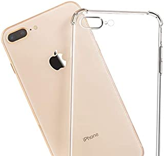 TERSELY Case Cover for iPhone 7 Plus/ 8 Plus, Soft Crystal Flexible Ultra Clear Slim TPU Bumper Case Cover with Shockproof...