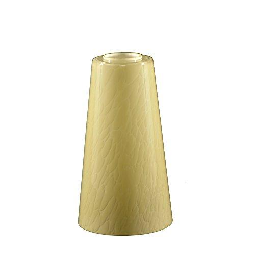 Glasschirm Lampenschirm ersatzglas Beige E27 Höhe 18cm