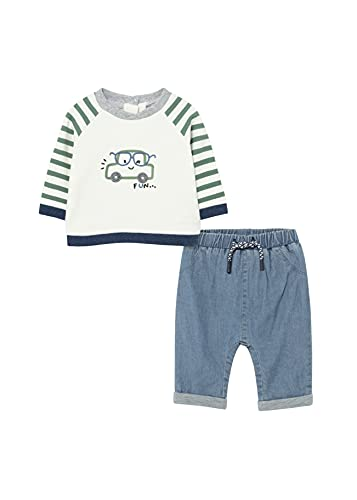 Mayoral 11-02517-022 - Denim Long Trousers for Baby-Boys 2-4 Months Eucalyptus