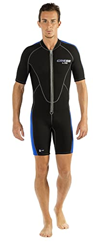 Cressi Lido Man Monopiece Wetsuit 2mm - Traje Corto de Neopreno High Stretch para Hombre , Negro/Azul , XL/5