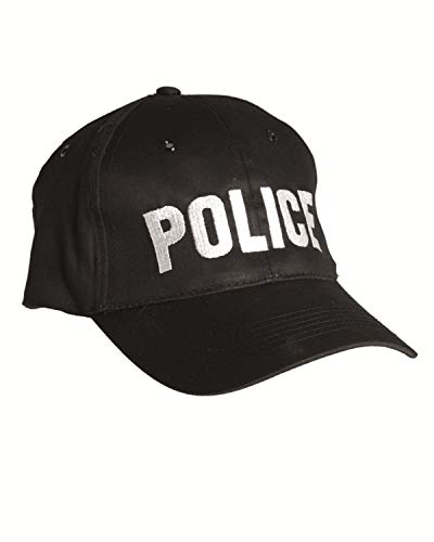 Mil-Tec Casquette brodée Police Taille réglable - Snapback cap - Coloris Noir - Airsoft - Paintball - Outdoor