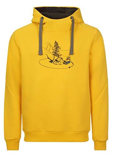 Elkline Herren Hoodie Checkthis Kapuzenpulli mit VW T1 Bulli Print, Farbe:Lemon, Größe:XXL