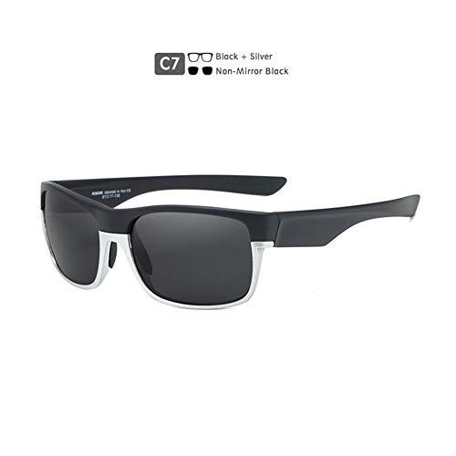 Lanrui Gafas de Sol polarizadas for Las Mujeres protección UV Coloridas del Deporte Real de la película de TAC Gafas de Sol polarizadas TR90 Ciclo al Aire Libre de los vidrios (Color : C7)