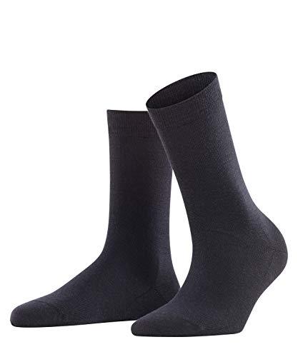 FALKE Damen Socken Softmerino - Merinowoll-/Baumwollmischung, 1 Paar, Blau (Dark Navy 6379), Größe: 41-42