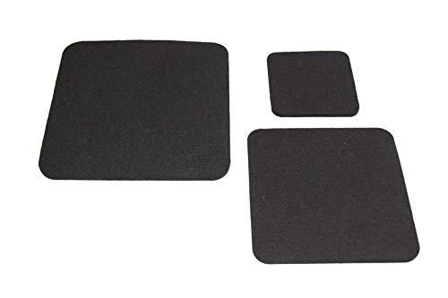 VOIGTdesign Filzuntersetzer, 5 mm dick, quadratisch, abgerundete Ecken, aus WOLLFILZ (20x20cm, 140 schwarz)