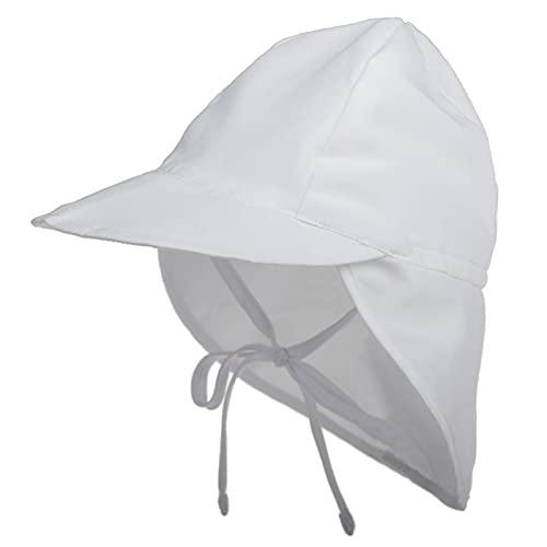 iSunday Unisex bebé multifuncional sombrero plegable niños sombrero de sol niño cubo sombreros con solapa desmontable cuello blanco