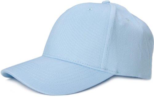 styleBREAKER Gorra clásica de 6 Paneles con Superficie cepillada, Gorra de béisbol, Ajustable, Unisex 04023018, Color:Azul Claro
