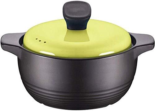 Pentole Casseruola in terracotta - Risparmio energetico, conservazione del calore, sicurezza e protezione ambientale, forte conduttività termica, 3L Mengheyuan