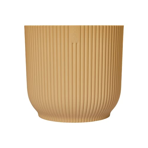 Elho Vibes Fold Round 18 - Macetero - Butter Yellow - Interior - Ø 18.345 x H 16.8 - Creado con la...