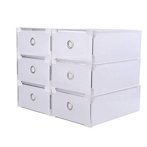 20 cajas de zapatos transparentes de plástico para guardar zapatos, apilables, de plástico, organizador de zapatos, 31 x 20 x 11 cm