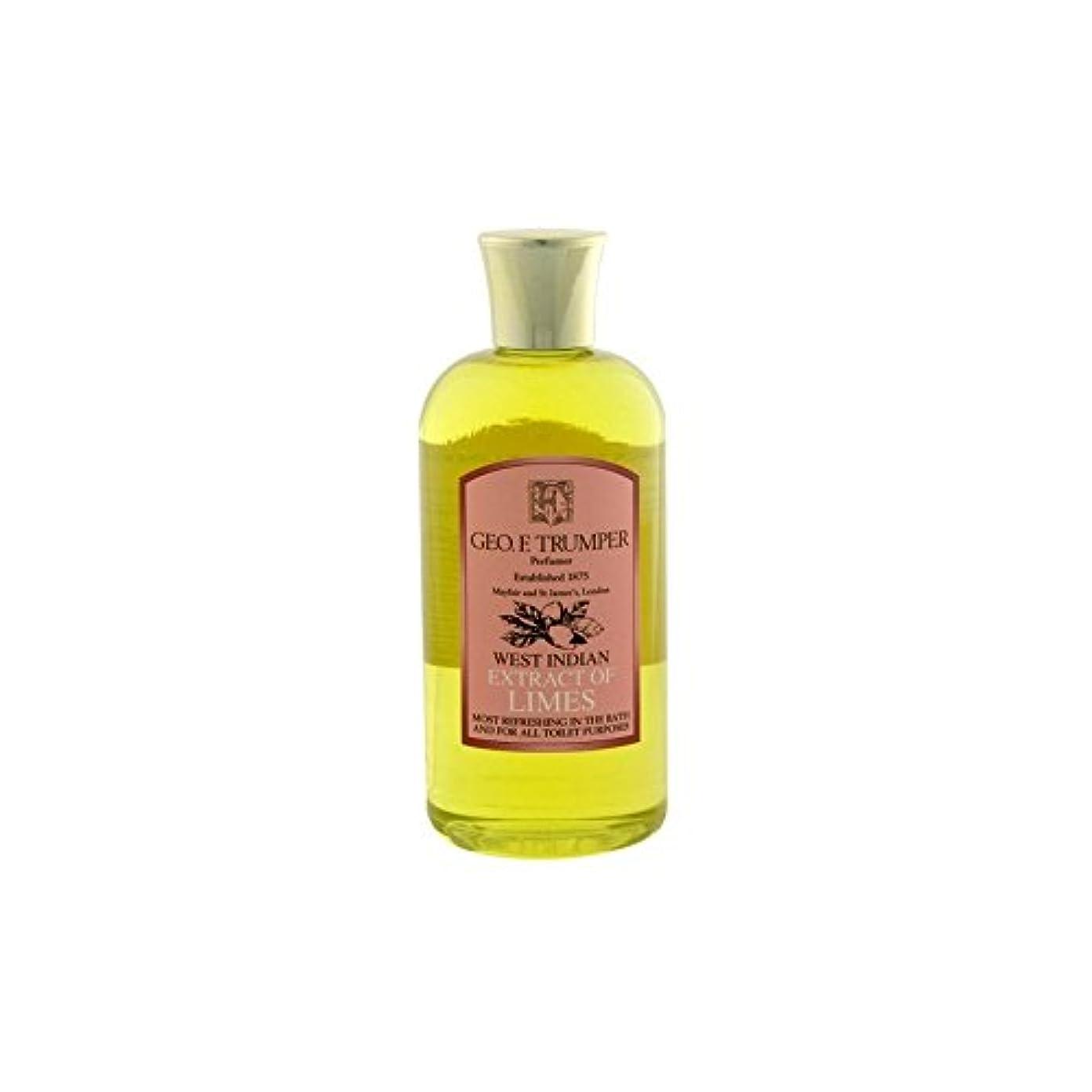 割れ目医療過誤湿地ライムのバス&シャワージェル - 500ミリリットル旅 x4 - Trumpers Limes Bath & Shower Gel - 500ml Travel (Pack of 4) [並行輸入品]