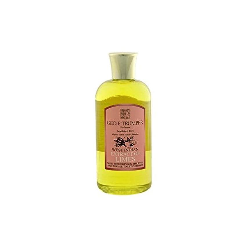 何でも呼び起こす意見ライムのバス&シャワージェル - 500ミリリットル旅 x4 - Trumpers Limes Bath & Shower Gel - 500ml Travel (Pack of 4) [並行輸入品]