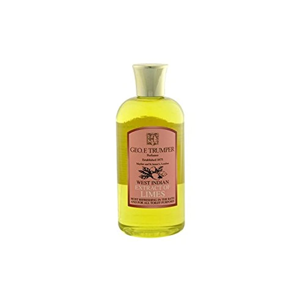 スタッフ装置前件ライムのバス&シャワージェル - 500ミリリットル旅 x4 - Trumpers Limes Bath & Shower Gel - 500ml Travel (Pack of 4) [並行輸入品]