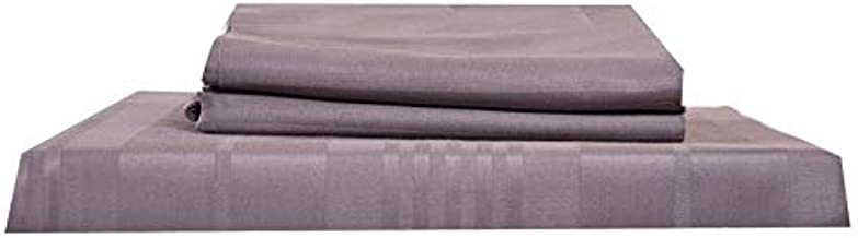 Just Linen Gray Queen Size 90 x 102 inches, Flat Bedsheet with Pillow Covers - 3 Pieces