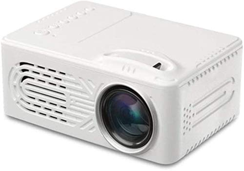 Mini Projector Portable Full HD 1080P video projector, 20,000 hours Multimedia home cinema movie projector, Compatible With HDMI, VGA, USB, AV, laptop, iPhone, Android Smartphone, White,W...