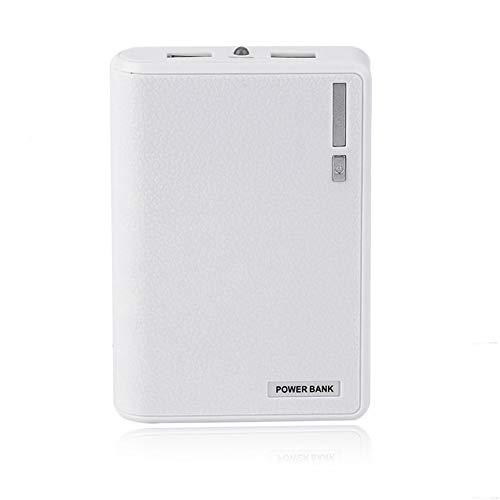 10400MAH draagbare 4 * 18650 batterij externe Power Bank telefoon batterij oplader-wit