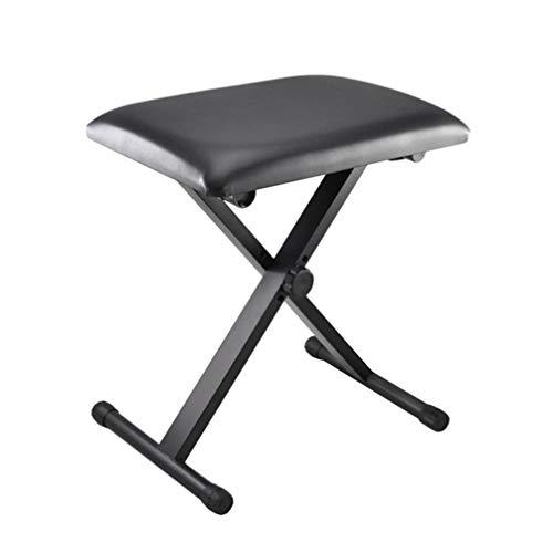 Best Buy! Milisten Piano Bench Adjustable Lifting Folding 3 Files Cushion Padded X Style Guzheng Sit...
