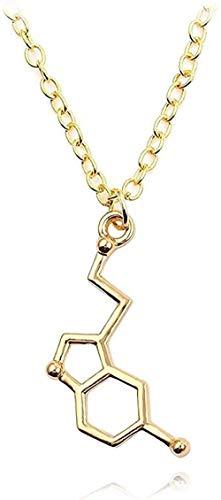 ZJJLWL Co.,ltd Collar Collar Collar Fórmula química Estructura Forma Collares Pendientes para Mujeres Joyería de Memoria eterna Accesorios de Regalo-5 para Mujeres Hombres Niños Niñas Regalo