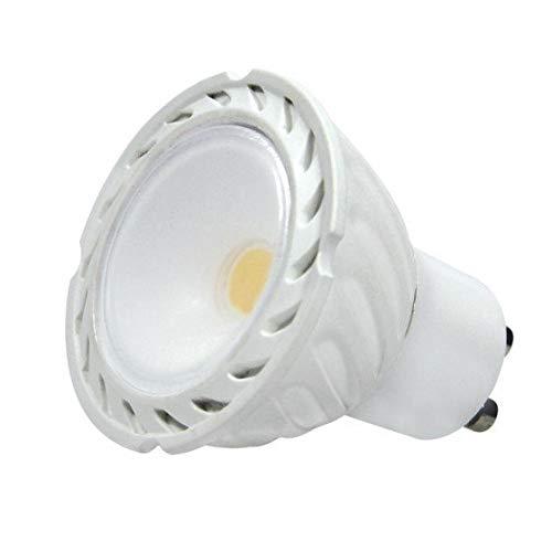 Dicroica GU10 LED COB 8W 100º Luz cálida 3000K de alta luminosidad 750 Lm.