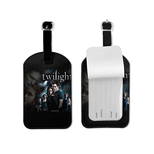 Etiquetas de equipaje crepuscular de cuero personalizado maleta Tag Set equipaje ID etiquetas de viaje accesorios de microfibra pu cuero 2.7* 4.3 pulgadas