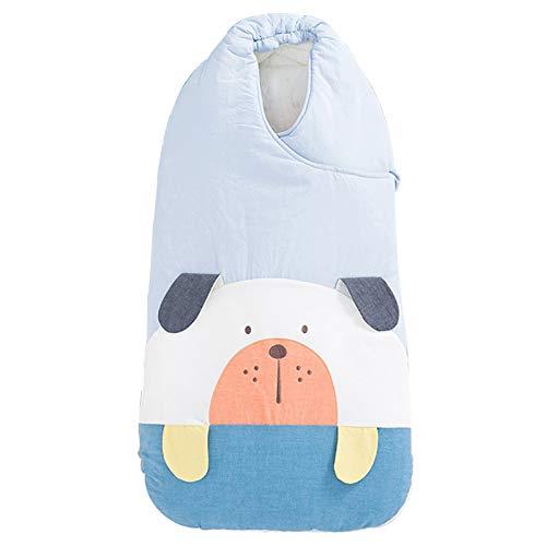 LUO'S Schlafsäcke Baby-Schlafsack Herbst und Winter aus Reiner Baumwolle, Neugeborenes Anti-Kick Quilt, 360-Grad-Rundum-Quilt, Unisex Baby (Color : Green)